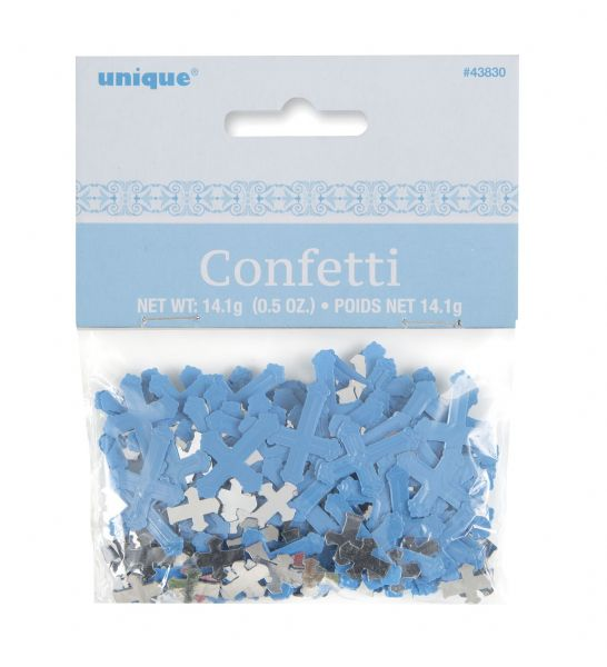 Blue Radiant Cross Table Confetti